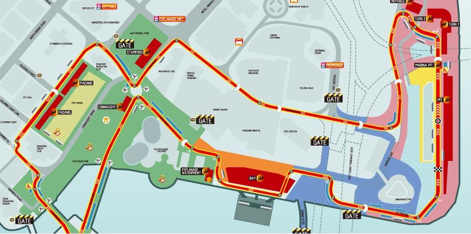 新加坡滨海湾地图